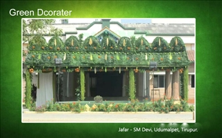 Green pandhal decorator